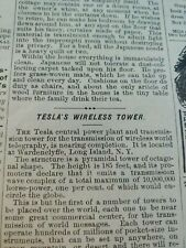 Nov 1904 Magazine Page #A417- Tesla Wireless Tower Is Nearing Completion