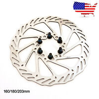 160/180/203mm Brake Rotor 6 Bolts Hydraulic Disc MTB Bike For Sram Avid Shimano