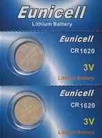 2 piles CR1620 EUNICELL - 3V Lithium