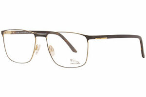 Jaguar 33103 1192 Eyeglasses Men's Black/Gold Full Rim Pilot Optical Frame 60mm