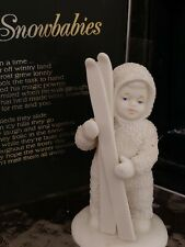 Skiing Snowbaby Retired #6815-2 with Storybook box Department 56