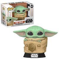 Funko Pop! Star Wars The Mandalorian Child Baby Yoda With Bag W/ Protector