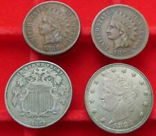More details for united states: 5 cents 1882 shield  &  liberty head 1885 ; 1 cent 1881 & 1883