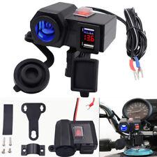 12V Roller Motorrad Ladegerät Zigarettenanzünder Steckdose Voltmeter Schalter