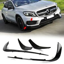 Painted Black Mercedes BENZ W156 Front Sport Flaps Canards Splitter 2016 GLA