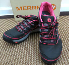 NIB~ MERRELL women All Out Rush Trail Running Shoe ~ size 6 ~Black/Paradise Pink