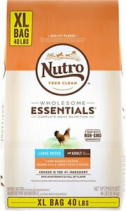 Nutro Wholesome Essentials Large Breed Adult Farm Raised Chicken 40lbs Bag