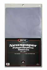 Case of 1000 BCW 12 X 16 Newspaper Acid Poly Sleeves 12x16