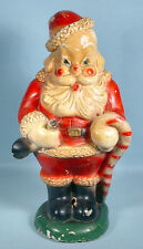 1940s Santa Claus Ceramic Carnival Bank Christmas Statue Chalkware Duquesne