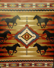 JAMES PIAZZA LICENSED SOUTHWEST HORSES - QUEEN - MEDIUM WEIGHT BLANKET