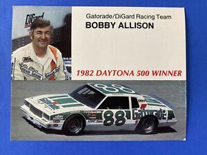 Vintage 1982 Bobby Allison Daytona 500 Winner Unused Gatorade Postcard 5 X 7