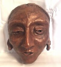 RARE Antique Vintage plaster Native American Indian DEATH MASK Man Woman ?