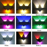 Triangle 3W LED Up Down Wall Lamp Spot Light Modern Pathway Sconce Lighting UK
