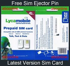 LYCAMOBILE UNLIMITED NATIONWIDE TALK TEXT DATA 3 IN 1 LATEST VERSION SIM CARD