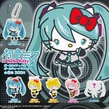 Vocaloid Miku Hatsune x Hello Kitty Set of 6 Keychain  Cell Phone charm New