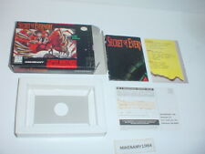 SECRET OF EVERMORE game BOX & INSERTS ONLY- Super Nintendo SNES- NO GAME