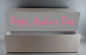 Personalised Magnetic Luxury White Gloss Gift Box For Birthday, Anniversary etc