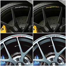 PEUGEOT SPORT Rims Alloy Wheels Decal Stickers 106 206 207 208 308 307CC RCZ GTi