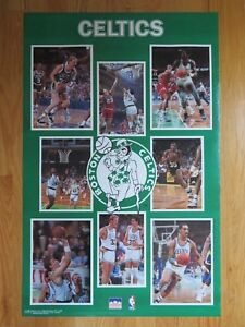 1990 Starline BOSTON CELTICS Poster LARRY BIRD DJ KEVIN McHALE REGGIE LEWIS