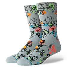 STANCE Gregory Siff Electric Slide Crew Socks sz L Large (9-12) Gray Artist
