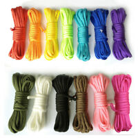 200 Colors 50-100FT 4mm 550 Paracord Micro Cord Parachute Cord Tent Lanyard Rope
