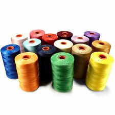 1 Reel - 500 m - Leather sewing waxed thread wax cord 1 mm Color Selectable ACK