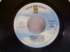"""LINDA RONSTADT """"TUMBLING DICE / I NEVER WILL MARRY"""" 45"""