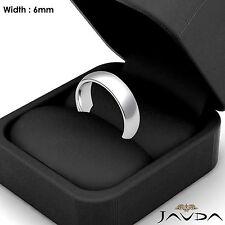 Solid Platinum Plain Dome Wedding Band Men Comfort Classic Ring 6mm 13.6g 8-8.75