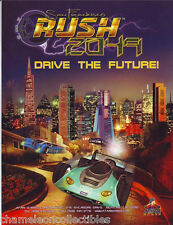 Atari SAN FRANCISCO RUSH 2049 Original NOS Video Arcade Game Machine Promo Flyer