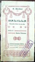 1907 TEATRO DI RAFFAELE ANTOLISEI (ANAGNI) 'BALILLA' LIRICA DI AMBIENTE GENOVESE
