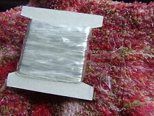 10 Metres Flat Crystal Clear 6 mm Jelly Elastic Ribbon for Invisible Bra Straps