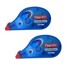 2x Tipp-Ex Korrekturroller Pocket Maus 4,2 mm x 10 m Korrekturband Korrekturmaus