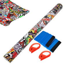 Cartoon Graffiti Car Sticker Bomb Wrap Sheet Decal Vinyl DIY Wrapping Tools
