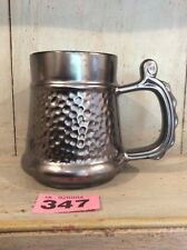 Vintage Prinknash Abbey Pottery Tankard with a Hammered Pewter Effect.