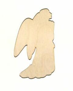 Holy Angel Laser Cut Unfinished Wood Shape H11698 Crafts Lindahl Woodcrafts