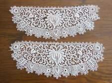 Superbe ancienne paire de poignées en dentelle, mercerie couture