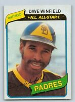 "1980  DAVE WINFIELD - Topps ""N.L.All Star"" Baseball Card #230 - SAN DIEGO PADRES"