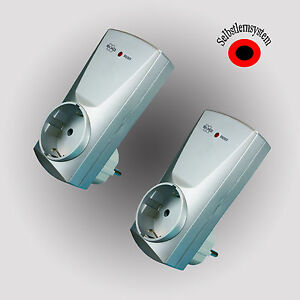 2 Stück Funk-Steckdose ELRO 3500 Watt selbstlernend Funkschalter Funk Schalter
