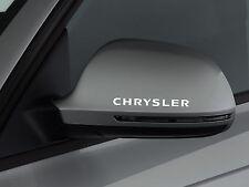 3 x Chrysler Aufkleber für Spiegel Voyager SRT Crossfire 300C 300M Emblem Logo