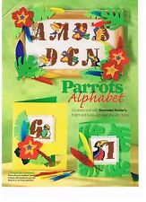 Sharonlee Holder Cross Stitch pattern from magazine - PARROTS ABC, alphabet