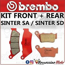 BRAKE PADS KIT BREMBO FRONT SINTER + REAR YAMAHA XT 660 R 2013 2014 2015
