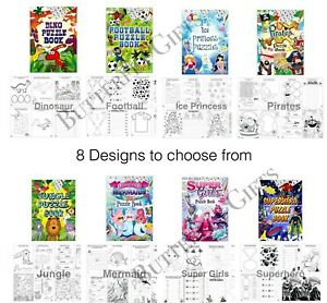 Boys Girls Puzzle Activity Colouring Books A6 Kid Loot Party Xmas Bag Fillers