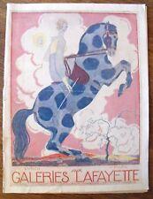 Georges Lepape Aux Galeries Lafayette  Catalogue mars 1919