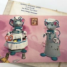 Vintage Mice Pincushion Craft Kit Fad Of The Month Sewing Bea Mouse