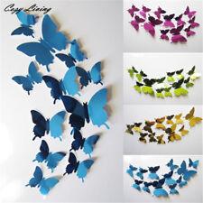 Farfalle 3D 12 pezzi adesive decorative specchio wall sticker vari colori muro
