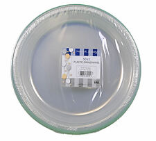"""50ct Plastic Clear 10"""" Plates Wedding Party Dinnerware"""