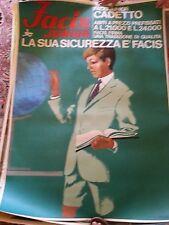 Original 1960s Italian Facis men's fashion poster on linen -- oversize!