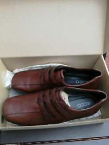 Brand New ECCO Women's Flat Brown Leather Shoes Size 7 /40