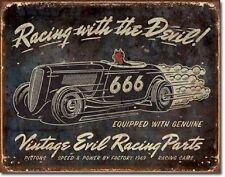 Evil Racing Vintage Retro Tin Sign Garage Bar Studio Wall Decor American Hot Rod