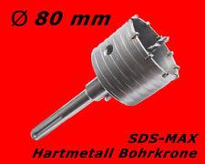 SDS-MAX HM Bohrkrone Dosenbohrer Mauerwerk Kernbohrer Lochsäge Ø 80mm x 230mm